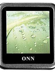 "ONN Q6 Ultra-Slim 1.5"" Screen MP3 Player with  Recording FM -Silver(4GB)"