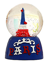 "3.3"" Eiffel Tower and Paris Letter Music Box"