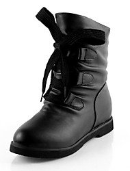 Women's  Low Heel Combat Boots  Mid-Calf Boots With Lace-up (More colors)