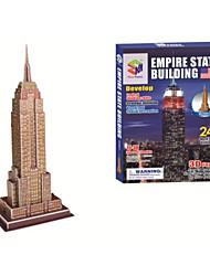 juguetes educativos del estado del imperio mágico rompecabezas de rompecabezas 3d edificio para los niños y adultos rompecabezas (24pcs, B668-3)