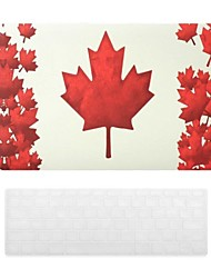 Canadian Flag Pattern PC Hard Case with Keyboard Cover Skin for MacBook Air