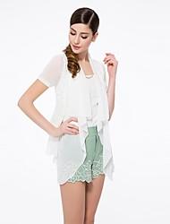 OSA Women's Short-sleeved Fake Two-piece Knit Shirt Stitching Cardigan