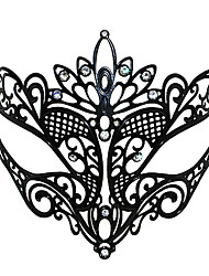 Sexy Fox Style Black Metal-Halloween Masquerade Mask