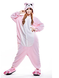 Kigurumi Pajamas New Cosplay® / Mouse Leotard/Onesie Festival/Holiday Animal Sleepwear Halloween Pink Patchwork Polar Fleece Kigurumi For