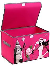 44 * 30 * 28cm de tecido caixas de armazenamento de dobramento com cópia da flor