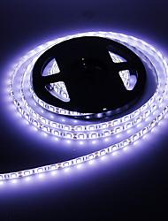 Водонепроницаемый 5M 60W 60x5050SMD 3000-3600LM 6000-7000K Холодный белый свет Светодиодные полосы света (12В)