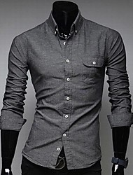 Men's Casual Long Sleeve Shirts A