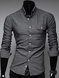 Men's Casual Long Sleeve Shirts A