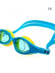 silicone de lunettes de natation de l'enfant (couleur assortie)