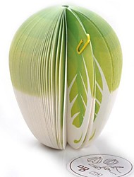 Cabbage Shaped Lovely Convenient  Paper Sslf-Stick (Green With White Color x1pcs)