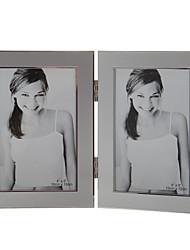 Foldable European Style Alloy Photo Frame - 2 Photos