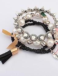 vor Frauen Punkniets mehrschichtiges Armband