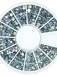 120PCS Mix 4 Size Bling Crystal AB Acrylic Rhinestones Wheel Nail Art Decoration