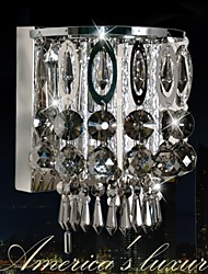 Crystal/Mini Style/Bulb Included Wall Sconces , Modern/Contemporary E12/E14 Crystal