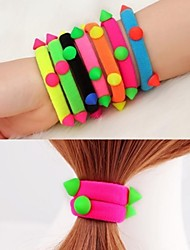 Rivet Hair Bands Elastic Rope Sinews (Color Random)