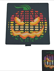Carking™ Car Windshield Music Control Equalizer Flash Light Sticker-Horrible Pumpkin(2*AAA)