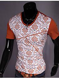PXZ été occasionnel d'impression T-shirt (jaune, orange)