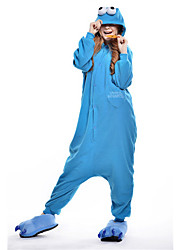 Kigurumi Pajamas New Cosplay® / Monster / Cartoon Leotard/Onesie Festival/Holiday Animal Sleepwear Halloween Blue Patchwork Polar Fleece