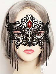 Masque Cosplay Fête / Célébration Déguisement d'Halloween Rouge Noir Dentelle Couleur Pleine Masque Halloween Carnaval UnisexeDentelle