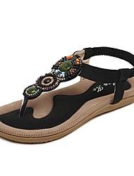 Women's  Flats Heel T-Strap Sandals  Shoes(More Colors)