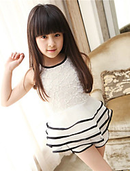 BB&B 2014 Girl's Summer New Medium Korean Lace Cake Dress with Shorts