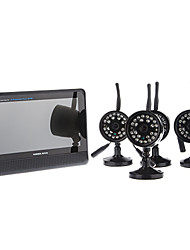 "Digital Wireless-Kamera mit 7 ""TFT LCD DVR, 4-Kanal Quad Home Storage Security System"