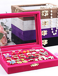 Jewelry Boxes Pearl / Flannelette / Glass Geometric Rose / Coffee / Black / Purple / Gray