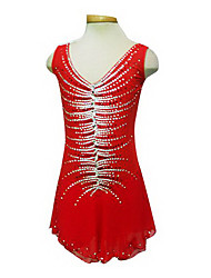 Girl's Red Spandex Figure Skating Dress(Assorted Size)