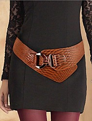 Women's Fashion Snake Texture Wide Belt