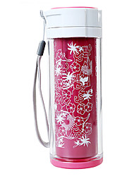 ACANU 280ML Stainless Steel Rose Red Fashional Vacuum Cup