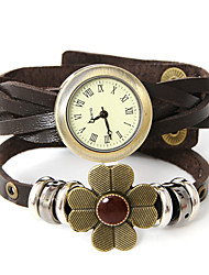 wagen u Mode echtem Leder Strick einstellbar Uhr