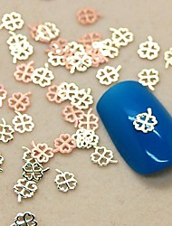 200шт четыре листа формы клевер ломтик металл украшение искусства ногтя