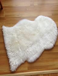 naturel nouveau tapis en peau de mouton zélande blanc 90 * 60cm