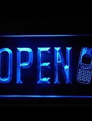 la publicité mobile cellulaire ouvert conduit de lumière de signe