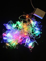 5M 40 Multicolor-LED-Lichterkette Schmetterling Hochzeit Party-Lampe (220 VAC)