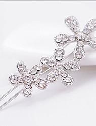 Glücklich Puppe Diamant-Blume Haarspange