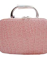Камень текстуры косметический случай двойного использовано сумку с косметическим зеркалом (2color)