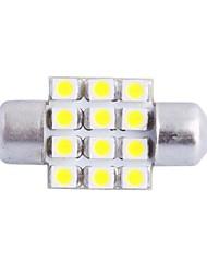 31mm 3W 150LM 6000K 12x3528SMD weiße LED für Auto Lesen / Kfz-Kennzeichen / Türleuchte (DC12V, 1Stk)