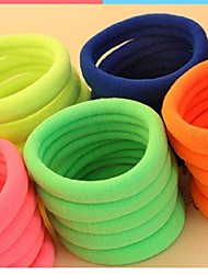 (3PC Random)Pretty Simple and Practical Fuzzy Multicolor Strong Elastic Hair Bands