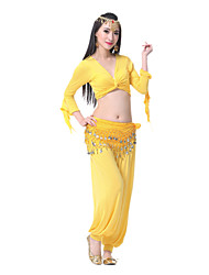 Performance Women's Sexy Mercerized Cotton Belly Dance Outfits-Including Top,Belt,Bottom(More Colors)