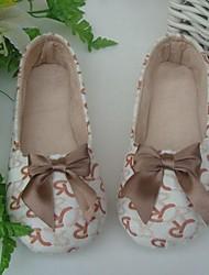 Donna Lettere Cotone Motivo Apartamenti Yoga Dance Shoes