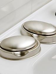 Platos Naranja ® Jabón Modern jabón desodorizante Acero Inoxidable Set 2Piece