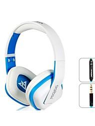 OVLENG A1 Superbe 3,5 mm casque supra-auriculaire avec microphone et 1,2 m de câble (blanc et bleu)