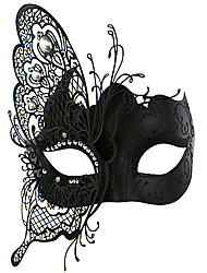 Butterfly Fairy Style Black Metal Halloween Masquerade Mask