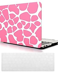 Pink Deer Grain Design PC Hard Case with Keyboard Cover Skin for MacBook Air