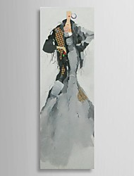 Hand Painted Oil Painting People Catwalk Shows with Stretched Frame