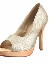 Damenschuhe - High Heels - Kleid - Kunstleder - Stöckelabsatz - Zehenfrei - Silber / Gold