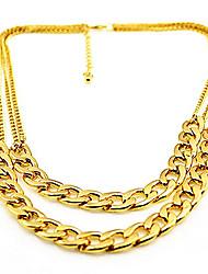 Shixin® Fashion Double Chain Alloy Choker Necklace(1 Pc)