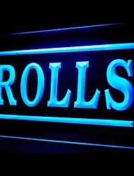 Rolls Food Promotion Green Blue Red White Orange Purple Yellow Advertising LED Light Sign