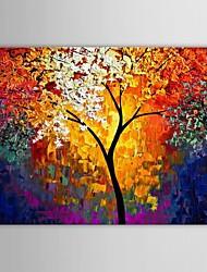 iarts®hand роспись маслом пейзаж нож дерево искусство с протянутой кадр